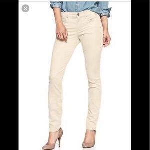 Gap jegging ivory skinny pants